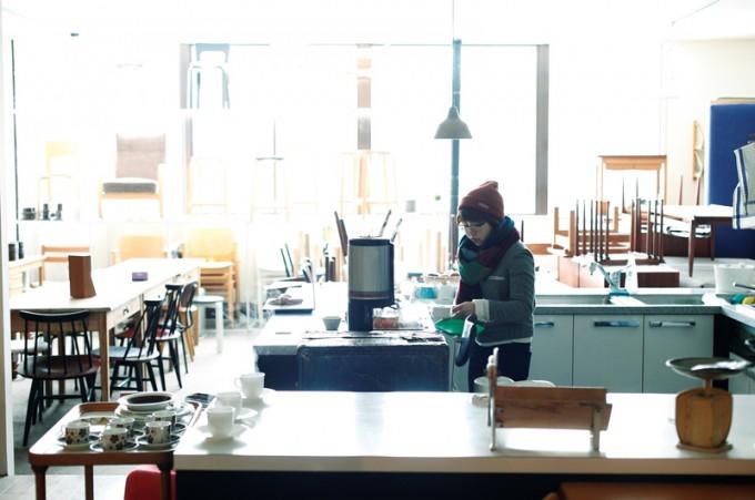 寒い日はジンジャーティーを店頭でお出しします。